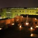 Dachterrasse bei Nacht